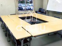 集会所の床を重歩行用シートに貼替え【東リ フロアリュームフレークNW】