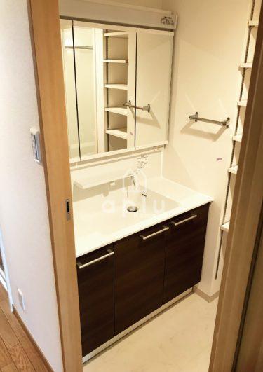 変更後の【TOTO 洗面台オクターブ】は使い勝手が良く、自動水栓付きの優れもの!