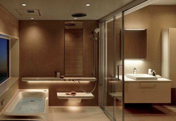 TOTO『シンラ(SYNLA)』<br /> リラックスを追求した新機能。<br /> 日常を快適にするTOTOのこだわりをバスルームに。